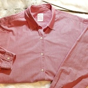 Brooks Brothers Red Gingham Oxford Shirt Sz 14